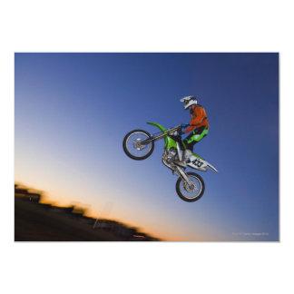 Cavaleiro de Motorcross Convite 12.7 X 17.78cm