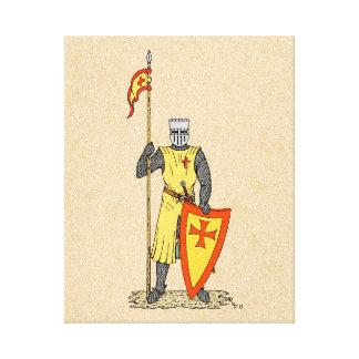 Cavaleiro do cruzado, início do século XIII Impressão Em Tela