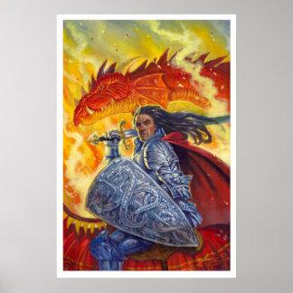 Cavaleiro do dragão impressão