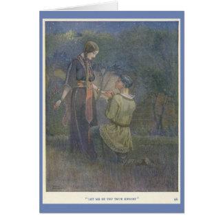 Cavaleiro e senhora justa, cartão