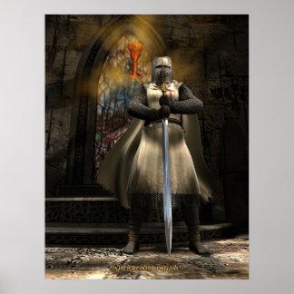 Cavaleiro Templar e Santo Graal Pôsteres