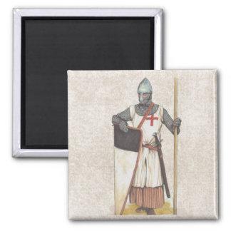 Cavaleiro Templar histórico Ímã Quadrado