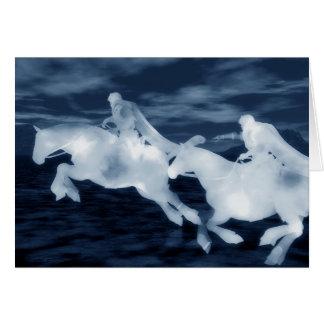 Cavaleiros fantasmas cartão
