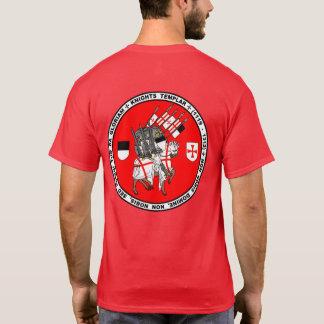 Cavaleiros Templar na camisa do selo da cruzada