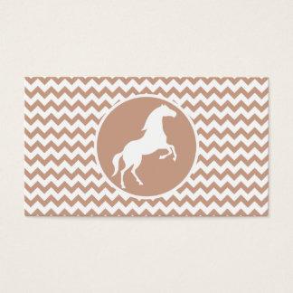 Cavalo; Brown Chevron Cartão De Visitas