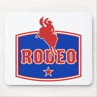 cavalo bucking do bronco da equitação do vaqueiro  mouse pad