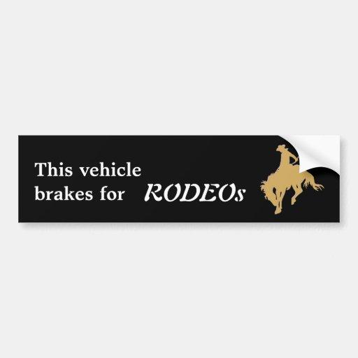 Cavalo Bucking do rodeio preto do ouro Adesivos