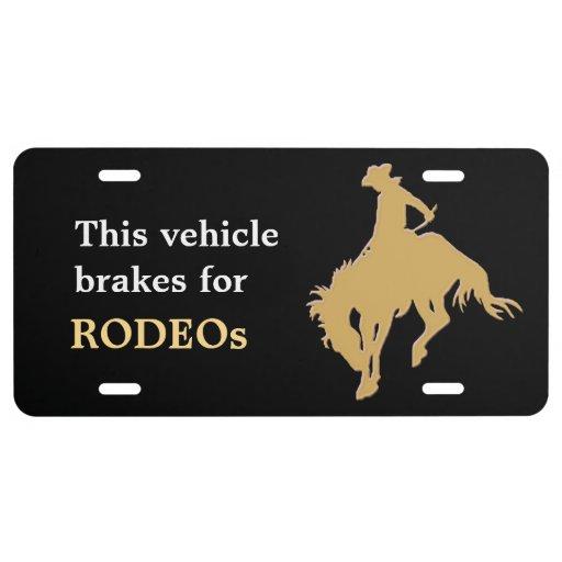Cavalo Bucking do rodeio preto do ouro