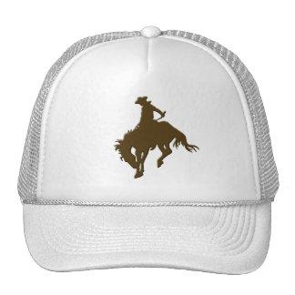 Cavalo Bucking do vaqueiro de Brown Boné