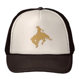 Cavalo Bucking do vaqueiro do ouro Boné