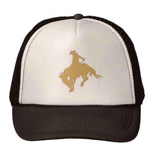 Cavalo Bucking do vaqueiro do ouro Bone