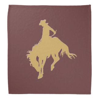 Cavalo Bucking do vaqueiro do ouro Pano Para Cabeça