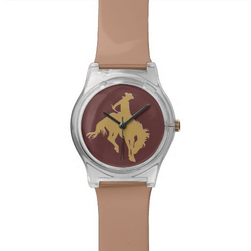 Cavalo Bucking do vaqueiro do ouro Relogio