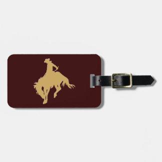 Cavalo Bucking do vaqueiro do ouro Tags De Mala
