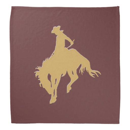 Cavalo Bucking do vaqueiro do ouro Faixa De Cabeça