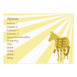Cavalo - carnudo cartão de visita grande