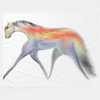 Cavalo colorido na cobertura do velo cobertor de lã
