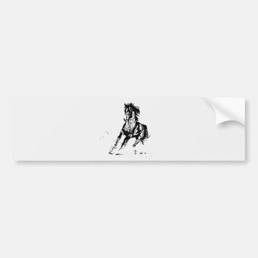 Cavalo cómico do desenho adesivo