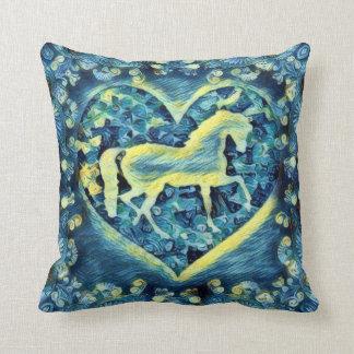Cavalo da noite estrelado almofada