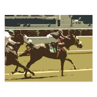 cavalo de raça do puro-sangue cartão postal