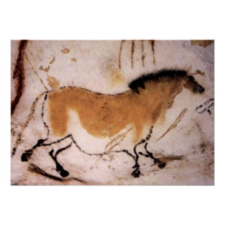 Cavalo do Dun - impressão pré-histórico do poster