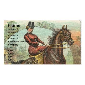 Cavalo do vintage cartao de visita