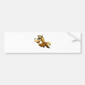 Cavalo dos desenhos animados adesivo para carro