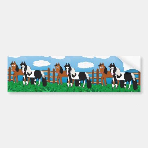 Cavalo dos desenhos animados adesivo