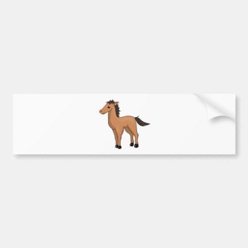 Cavalo dos desenhos animados de Brown Adesivos