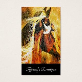Cavalo equestre abstrato do país ocidental cartão de visitas