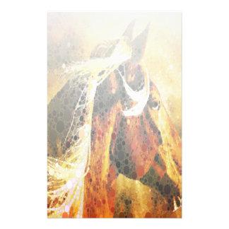 Cavalo equestre abstrato do país ocidental papelaria