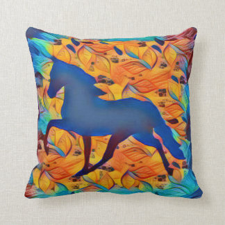 Cavalo lírico da abstracção almofada