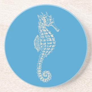 Cavalo marinho de PixDezines/natural+azul da Porta Copos De Arenito