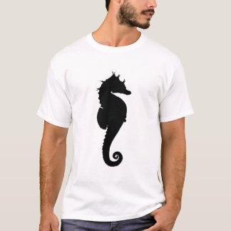 Cavalo marinho preto e branco camiseta