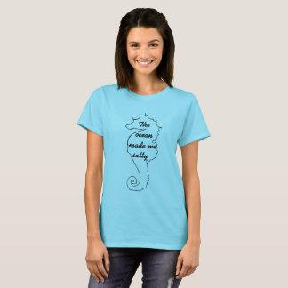 Cavalo marinho salgado camiseta