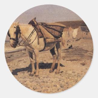 Cavalo para as pedras que recolhe nos Vela Adesivo
