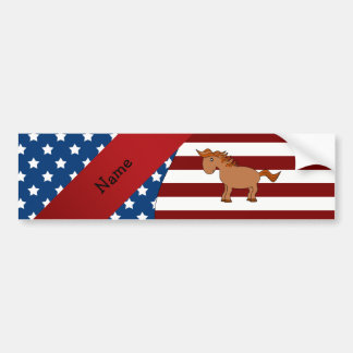 Cavalo patriótico conhecido personalizado adesivos