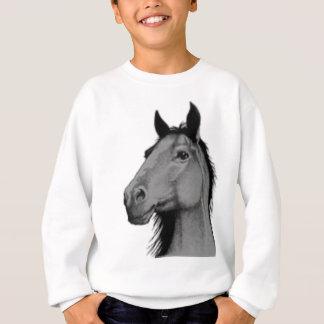 cavalo preto e branco camiseta