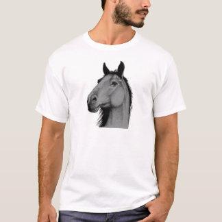 cavalo preto e branco camisetas