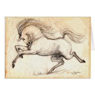 Cavalo Running Cartão De Nota