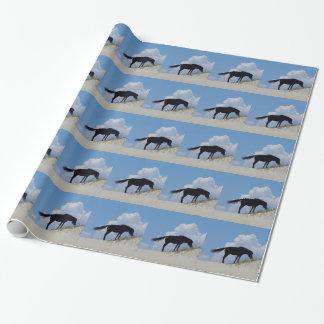 Cavalo selvagem em OBX Papel De Presente