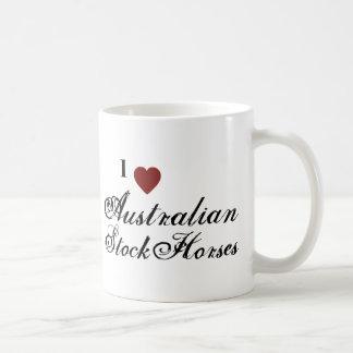 Cavalos conservados em estoque australianos caneca de café