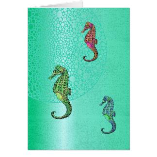 Cavalos marinhos e vazio do Aqua Cartão