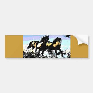 Cavalos Running do pop art Adesivo