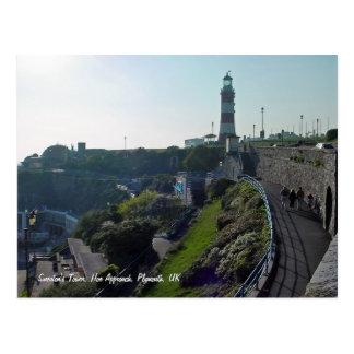 Cave a aproximação & a torre de Smeaton, cartão de Cartão Postal