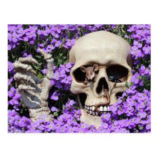 Caveira - Gothic, cartão postal/