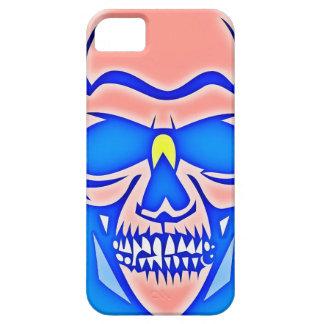 Caveira Rosa em fundo azul iPhone 5 Capa