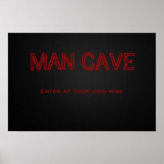 Caverna do homem pôster