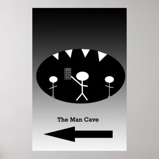 Caverna do homem pôsteres