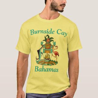 Cay de Burnside, Bahamas com brasão Tshirt